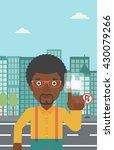 an african american man...   Shutterstock .eps vector #430079266