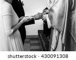hands of bride and groom...   Shutterstock . vector #430091308