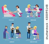 detailed manicurist character... | Shutterstock .eps vector #430095148