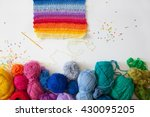Balls Of Colored Yarn. View...