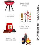 vector  picnic or bbq party.... | Shutterstock .eps vector #430095382
