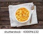 tasty corn flakes in bowl.... | Shutterstock . vector #430096132