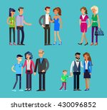 detailed character people ... | Shutterstock .eps vector #430096852