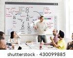 organization chart management... | Shutterstock . vector #430099885