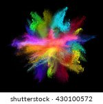 explosion of colored powder ... | Shutterstock . vector #430100572