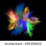 explosion of colored powder ... | Shutterstock . vector #430100632