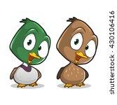 cute cartoon duck character | Shutterstock .eps vector #430106416
