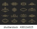 wicker lines and old decor... | Shutterstock .eps vector #430116325
