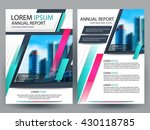 abstract vector modern flyers... | Shutterstock .eps vector #430118785