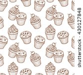 Seamless Pattern With Muffins...