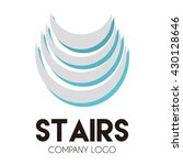 stairs abstract vector and logo ... | Shutterstock .eps vector #430128646