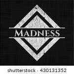 madness written with chalkboard ... | Shutterstock .eps vector #430131352