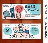 vector set of discount coupons...   Shutterstock .eps vector #430142926