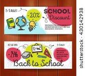 vector set of discount coupons...   Shutterstock .eps vector #430142938