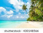 beautiful tropical maldives... | Shutterstock . vector #430148566