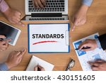 standards business team hands... | Shutterstock . vector #430151605