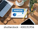 margin open book on table and... | Shutterstock . vector #430151956