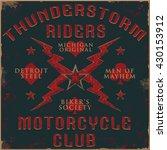 thunderstorm tee graphic | Shutterstock .eps vector #430153912