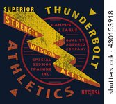 thunderbolt tee graphic | Shutterstock .eps vector #430153918