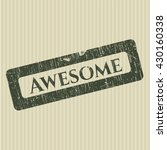 awesome grunge stamp | Shutterstock .eps vector #430160338