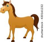 cute horse cartoon | Shutterstock . vector #430161232