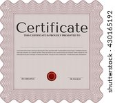 diploma or certificate template.... | Shutterstock .eps vector #430165192