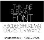 slim elegant font. vector... | Shutterstock .eps vector #430178926