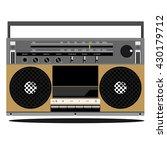 radio old school vector | Shutterstock .eps vector #430179712