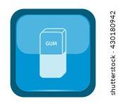 eraser icon on a blue button | Shutterstock .eps vector #430180942