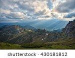 mountain valley. natural summer ... | Shutterstock . vector #430181812