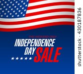 independence day sale banner... | Shutterstock .eps vector #430187836