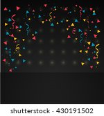 confetti in dark background | Shutterstock .eps vector #430191502
