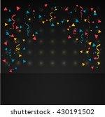 confetti in dark background | Shutterstock .eps vector #430191502