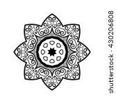 black and white mandala. ethnic ...   Shutterstock . vector #430206808