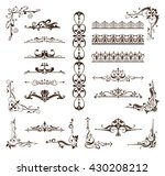 vintage frames  corners ... | Shutterstock .eps vector #430208212