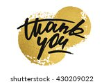 thank you card with golden... | Shutterstock .eps vector #430209022