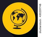 world globe.vector icon. | Shutterstock .eps vector #430209748
