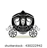 carriage on white background. | Shutterstock .eps vector #430222942