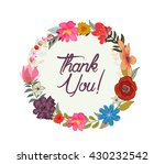 vintage watercolor greeting... | Shutterstock .eps vector #430232542