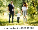 father  mother and son walking... | Shutterstock . vector #430242202