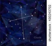 crucisi constellation in night... | Shutterstock .eps vector #430243702