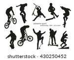 extreme sport silhouette  ... | Shutterstock .eps vector #430250452