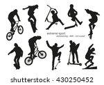 extreme sport silhouette  ... | Shutterstock .eps vector #430250452