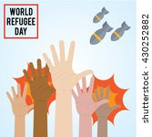 world refugee day campaign... | Shutterstock .eps vector #430252882