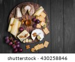 Assorted Cheeses On Round...