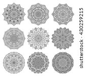 set of mandalas for coloring... | Shutterstock .eps vector #430259215