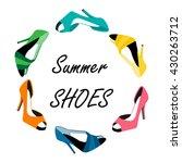 vector illustration summer... | Shutterstock .eps vector #430263712