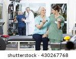 nurse instructing senior...   Shutterstock . vector #430267768