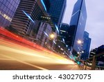 speed morning traffic motion... | Shutterstock . vector #43027075