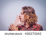 call someone. man | Shutterstock . vector #430273342